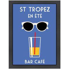 Found it at Wayfair - St. Tropez en Été by Alan Walsh Framed Graphic Art Art Deco Posters, Cool Posters, Poster Prints, Framed Prints, Art Prints, Pool Bar, Saint Tropez, Vintage Walls, Vintage Prints