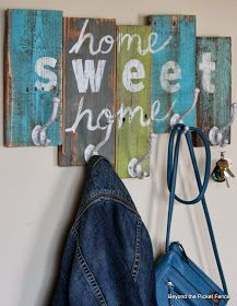 home sweet home reclaimed wood coat hook Pallet Art, Pallet Signs, Wooden Diy, Wooden Signs, Pallet Coat Racks, Wood Projects, Projects To Try, Wood Crafts, Diy Crafts