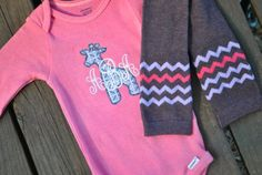 pictures of baby girl outfits with girrafs | Baby Girl Outfit Monogrammed Sofie Giraffe Silhouette Gift Pink Purple ...