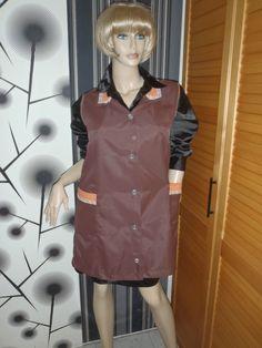Nylon Kittel Schürze Nylon Glanz Blouse Frisör Kleid Apron Overall Vinyl in Kleidung & Accessoires, Vintage-Mode, Vintage-Mode für Damen |…