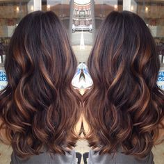 Inspiring image brunettes, curly hair, hairstyles, highlights, long hair, wavy hair, balayage hair, hair goals by Maria_D - Resolution - Find the image to ...