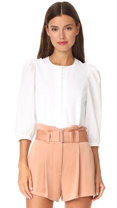 La Vie Rebecca Taylor Shirting Sleeve Top | SHOPBOP