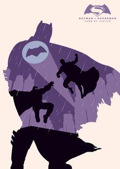 Batman v Superman: Dawn of Justice ~ Minimal Movie Poster by Andy Grail Batman Poster, Batman Comic Art, Batman Vs Superman, Batman Comics, Dc Comics Heroes, Dc Comics Art, Minimal Movie Posters, Comic Kunst, Batman The Dark Knight