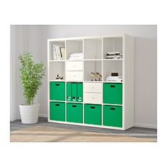 IKEA - KALLAX, Shelving unit, white, , You can use the furniture as a room divider because it looks good from every angle.