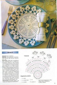 Crochet doily chart pattern , nice selection of patterns.