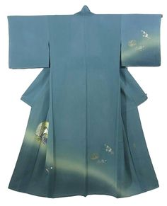 This is an elegant summer Ro Houmongi Kimono designed by a famous 'Raden'(design in mother-of-pearl inlay) designer, Takashi Fujimoto