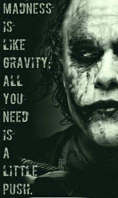 The Joker does deep....