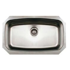 Whitehaus Collection Undermount Brushed Stainless Steel 29.5x17.5x8.625 in. 0-Hole Single Bowl Kitchen Sink-WHNCUS2917-BSS - The Home Depot