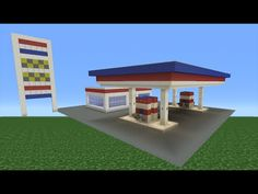 Minecraft Tutorial: How To Make A Petrol (Gas) Station - YouTube