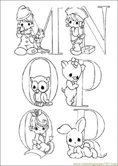 Coloring Pages Precious Moments (Cartoons > precious moments) - free printable coloring page online