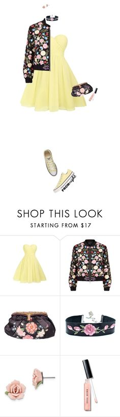 """""""The Perfect Prom Night"""" by leslee-dawn ❤ liked on Polyvore featuring Converse, Needle & Thread, 1928, Bobbi Brown Cosmetics, Prom, converse and PROMNIGHT"""