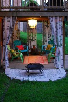 Get tips from professional landscape designers on how to design a small patio. See pictures of small patio ideas for your own patio design. Diy Pergola, Gazebo, Pergola Kits, Pergola Ideas, Back Patio, Small Patio, Patio Under Decks, Small Covered Patio, Fire Pit Backyard