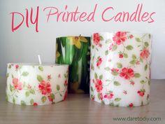 Dare to DIY: DIY Home: velas estampadas