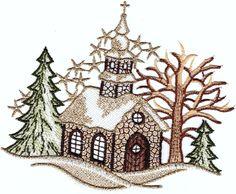 Fensterbild 15x17 cm PLAUENER SPITZE® Weihnachten KIRCHE klein Braun Gold Winter in Möbel & Wohnen, Rollos, Gardinen & Vorhänge, Gardinen & Vorhänge | eBay!