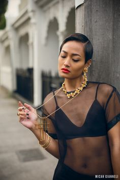gold necklace with sheer top 2017 and bralette Micah Gianelli, Cool Style, My Style, Australian Fashion, Mannequin, Swagg, Instagram Fashion, Girl Fashion, Style Fashion