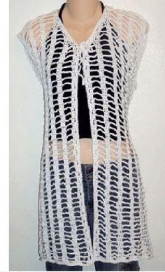 ABC Knitting Patterns - Crochet Shell Lace Vest.