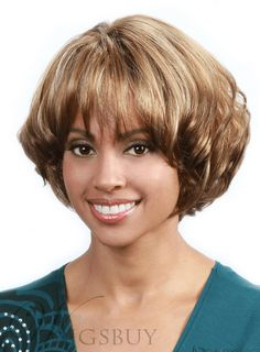 Newest Pictures African American Women Short Curly Layered Bob Hairstyle Full Bang Capless Synthetic Wigs 10 Inches Thoughts Who developed the Bob hair? Bob has been leading the league of trend hairstyles for decades. Layered Bob Hairstyles, Modern Hairstyles, Wig Hairstyles, Best Lace Front Wigs, Cheap Lace Front Wigs, Best Human Hair Wigs, Cheap Human Hair Wigs, Cheap Wigs, Curly Wigs