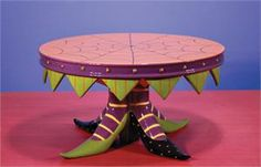 Patience Brewster Witch's Shoe Cake Plate