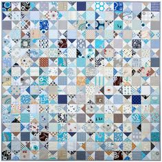 Ohio Star Quilt - The Blues II