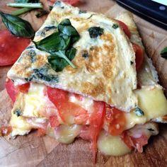 Margarita Pizza Garlic Egg Wrap - Cafe Delites cafedelites.com