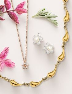 Think spring with our collections of trendy designs, lightweight styles, and springtime themes. Stock up today! #QualityGold #SpringFashion #jewelry #FashionJewelry #LightweightJewelry #Earrings #SpringFashionTrends #Necklaces Summer Fashion Trends, Spring Time, Fashion Jewelry, Earrings, Gold, Collection, Design, Style, Ear Rings