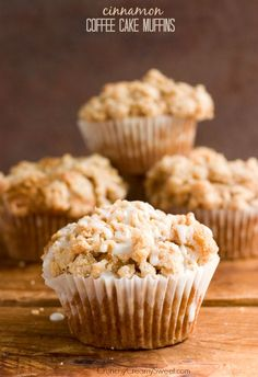 Cinnamon Coffee Cake Muffins - the mini version of your favorite coffee cake! Topped with the best crumb topping!