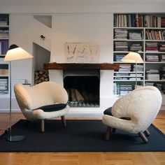 Modern Chair Design for Indoor Furniture by One Collection Modern Chairs, Modern Furniture, Furniture Design, Design Rustique, Black Floor Lamp, Floor Lamps, Interiores Design, Chair Design, Home And Living