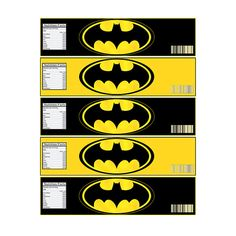INSTANT DOWNLOAD Batman Bottle Label - Digital File - for BATMAN party on Etsy, $3.34 AUD