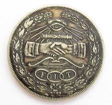 RARE ANTIQUE ODD FELLOWS FLT COIN TOKEN*IRVING LODGE #545 PORT CHESTER NY*D521