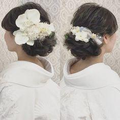白無垢に似合う洋髪アレンジまとめ | marry[マリー]