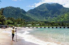 Hanalei Bay Kauai by Daryl L Hunter Hawaii Landscape, Hanalei Bay, Kauai, Building, Beach, Travel, Viajes, The Beach, Buildings