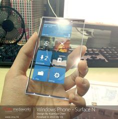 technology gadgets - Windows Phone Surface N with Transparent Display Latest Technology Gadgets, High Tech Gadgets, Technology World, Futuristic Technology, Cool Technology, Technology Design, Future Gadgets, New Gadgets, Gadgets Shop