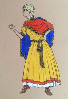 Costume variations of Russian north ortodox village Ust-Tzilma