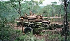 A South African Olifant MBT in Angola. It entered service in 1985 and was deployed to the Angolan theater in 1986