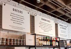 Descubre las Tiendas Gourmet más Bonitas de todo el Mundo Menu Restaurant, White Restaurant, Restaurant Design, Restaurant Identity, Menu Board Design, Menu Design, Cafe Design, Signage Design, Design Design