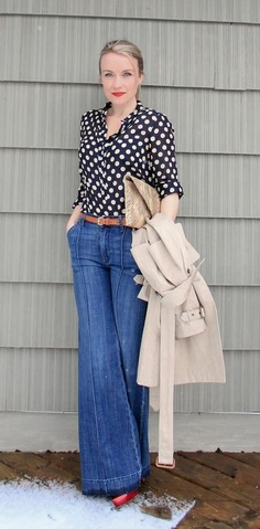 Polka Dots and Trench Coat via member :: http://houseofwinchester.blogspot.com/2012/04/there-thats-better.html