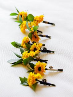 Navy and Gold, Sunflower themed wedding - Yellow,  Mini,  Sunflowers