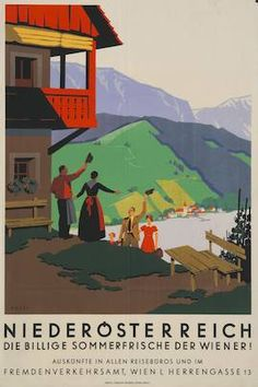 See Lower Austria Austrian Europe Vintage Travel Advertisement Art Poster Party Vintage, Vintage Ski, Travel Ads, Travel And Tourism, Retro Poster, Vintage Travel Posters, Tarzan, Green Label, History Posters