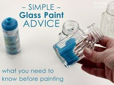 Practical advice for painting glass and ceramics