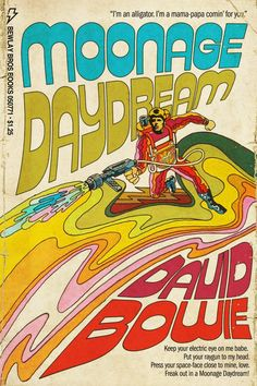 Moonage Daydream graphic/comic - David Bowie - Freak out! Rock Posters, Band Posters, Pop Art Posters, Heroes Bowie, David Bowie Moonage Daydream, Poster Wall, Poster Prints, Arte Sci Fi, Usa Tumblr