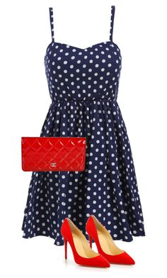 """""""3 ITEMS"""" by ginga1203 ❤ liked on Polyvore featuring Christian Louboutin and Chanel"""