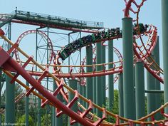 Anaconda Kings Dominion (Doswell, Virginia, USA)  Operating since 3/23/1991  Roller Coaster · Steel · Sit Down · Extreme  Make: Arrow Dynamics Model: All Models / Custom Looping Coaster