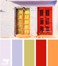 color window - I totally took this color swatch and bought bedding inspired by it. Completely revamping my room in this!
