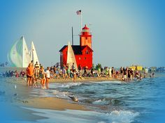 Holland State Park in Holland, Michigan. I've gone there every summer for as long as I can remember