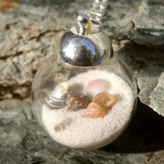 My Own Private Beach Necklace - Beach in a Bottle, Beach Wedding, Vacation, Hawaii, Tropical Beach, Sand, Sea Shells by HaoleGirlHaiku on Etsy https://www.etsy.com/listing/180703660/my-own-private-beach-necklace-beach-in-a