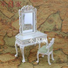 zoek meer meubels speelgoed informatie over 112 schaal poppenhuis poppenhuis meubels slaapkamer kaptafel kruk