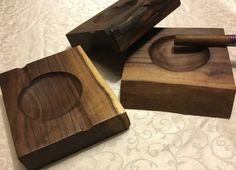 Handmade Wood Cigar Ashtray, Walnut by SpringGroveWoodshop on Etsy https://www.etsy.com/listing/258363823/handmade-wood-cigar-ashtray-walnut