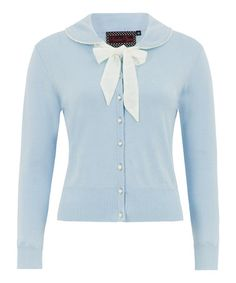 This Light Blue Bow Button-Down Cardigan is perfect! #zulilyfinds