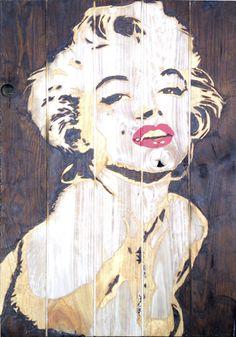 Marilyn Monroe - Artwork - Bruno Lelièvre 2014 technique mixte 100x67