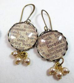 Earrings from Friday's video on using lace edged bezels by Brenda Sue Lansdowne of B'sue Boutiques!